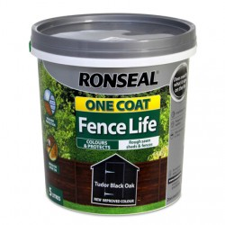 RONSEAL One Coat Fencelife 5lt TUDOR BLACK | 403826