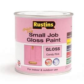 RUSTINS Quick Dry Small Job Gloss Paint CANDY PINK 250ml | 70808