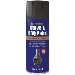RUSTOLEUM Stove & BBQ Paint 400ml MATT BLACK | 252504