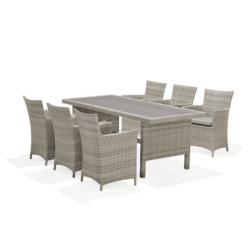 ARUBA 6 Seat Rectangle Corner Dining Set | 426906