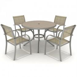 Morella 4 Seat Round Dining Set | 426917
