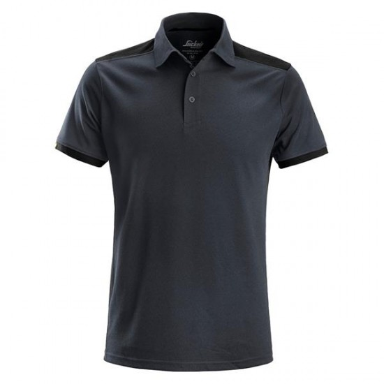 SNICKERS All Round Work Polo Shirt LARGE GREY/BLACK   2715
