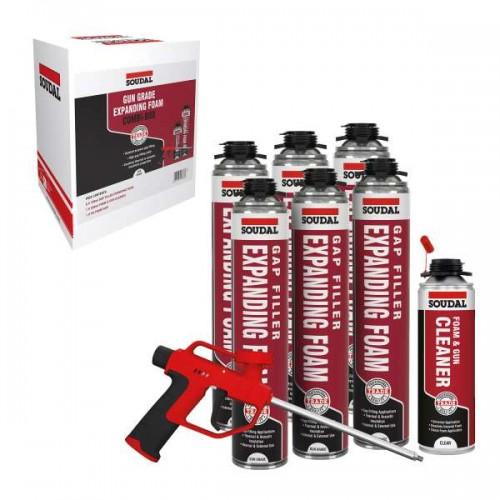 SOUDAL Gap Filler Expanding Foam Gun Combi Pack   152990