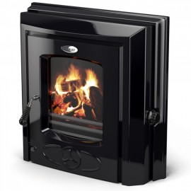 STANLEY Cara + Insert HPB 14KW Boiler Stove BLACK ENAMEL | 94450