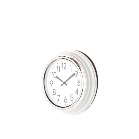 TARA Retro Café Clock 35cm IVORY GLOSS | 374988
