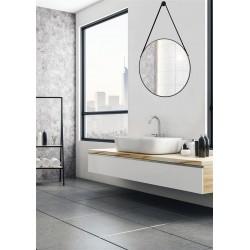 Tema Riviera Framed Circular Mirror 50cm BLACK | 84893