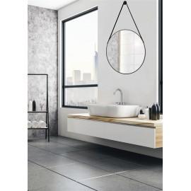 Tema Riviera Framed Circular Mirror 50cm BLACK   84893