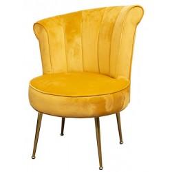 THE GRANGE COLLECTION Velvet Chair MUSTARD   408062