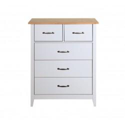 NORFOLK 5 Drawer Grey & Pine Chest   425076