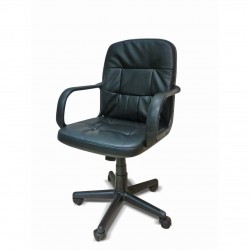 Computer Chair Faux Leather BLACK   431250