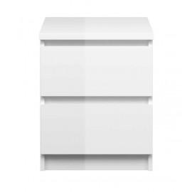 NAIA 2 Drawer Bedside Locker High Gloss WHITE | 431254