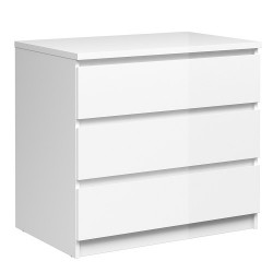NAIA Chest of 3 Drawers High Gloss WHITE   431255