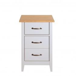 NORFOLK 3 Drawer Grey & Pine Bedside Locker   431256