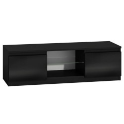 TV Cabinet with Blue LED Light - Gloss Black | 063458