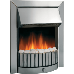 DIMPLEX Delius Chrome Optiflame Electric Inset Fire DLS20