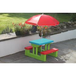 Kids Picnic Bench with Parasol | KIBNAS661
