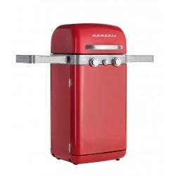 Memphis Retro 2 Burner Gas Barbecue Red