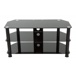 "TV Stand for up to 50"" TV Black Glass - SDC1000CMBB"