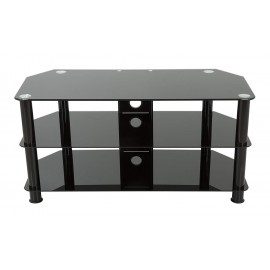 """TV Stand for up to 50"""" TV Black Glass - SDC1000CMBB"""