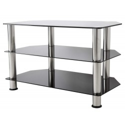 """TV Stand for up to 42"""" TV Black Glass - SDC800CMBB"""