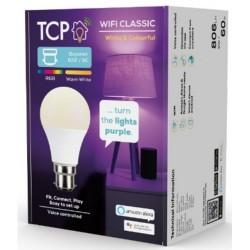 TCP TCPB22COL Smart Wi Fi LED & RGBW B22 Classic Light Bulb- Colour Changing
