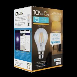 TCP TCPB22FIL Smart WiFi LED Filament 2700K Dimmable Classic B22 light bulb