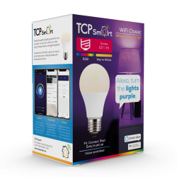 TCP TCPE27COL Wi Fi LED 2700 & RGB E27 Classic Bulb Colour Changing