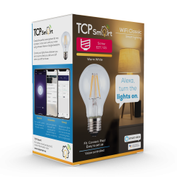 TCP TCPE27FIL Smart WiFi LED Filament 2700K Dimmable Classic E27 light bulb