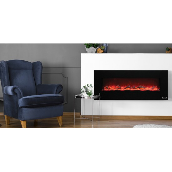 Stanley Argon Wall Hung 140cm Fire Black   ARWH140